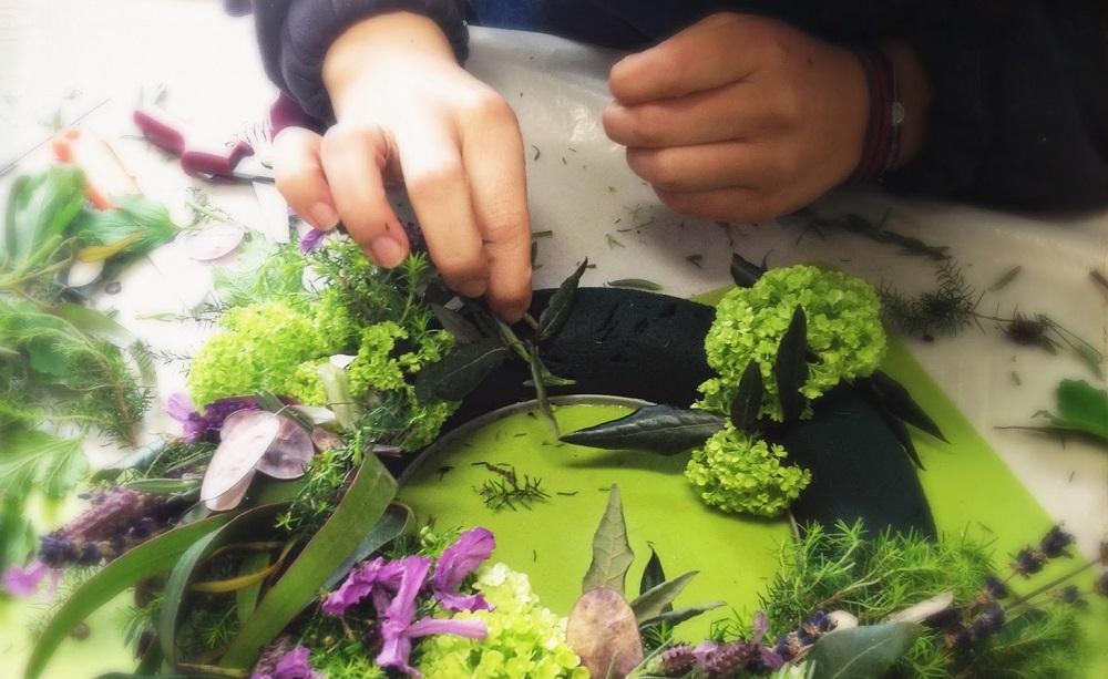 Atelier art floral enfants