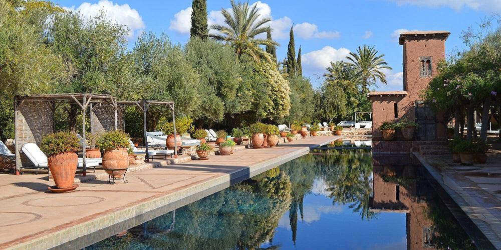 Hotel piscine familles marrakech