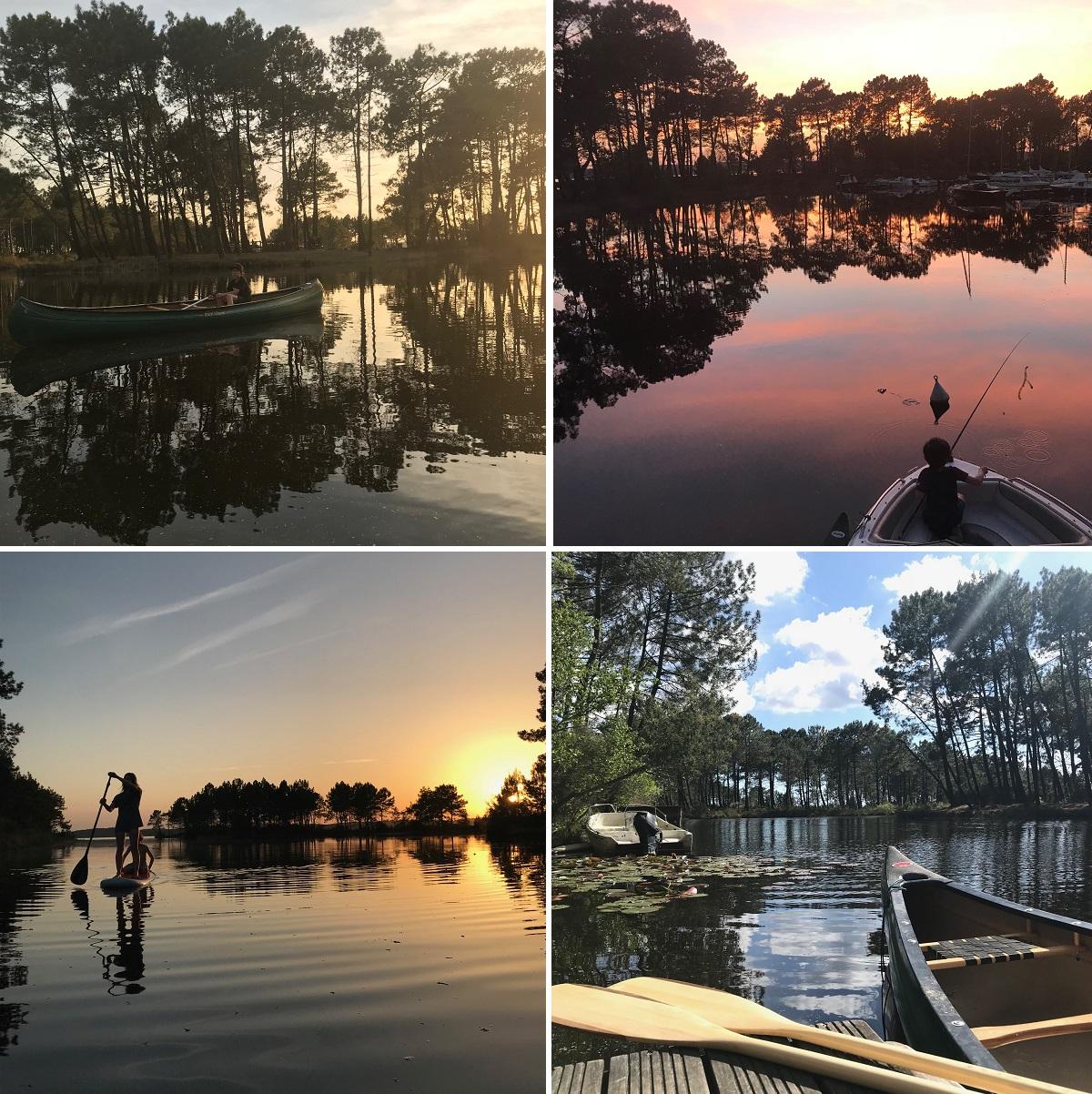 location avec bateau et paddle landes